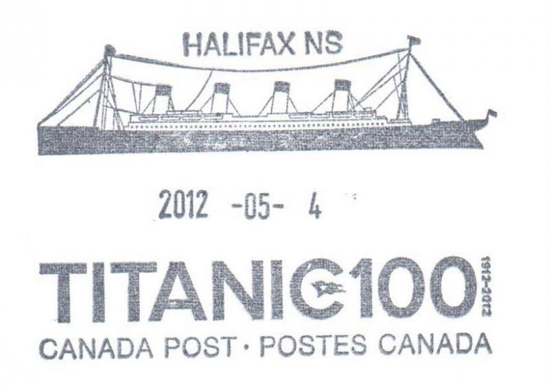 Canada Special Cancel from Canada Post - HALIFAX NS - 2012-05-04 - TITANIC 100