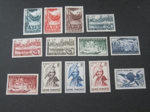 French Guiana 1947 Sc 192-204 MH