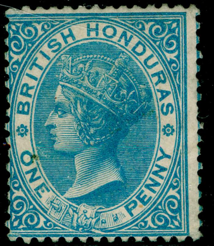 BRITISH HONDURAS SG1, 1d pale blue, M MINT. Cat £60. NO WMK.