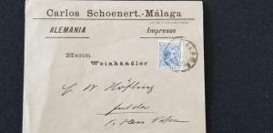 Spain Correos España Comunicaciones 5 centimos 1880's Alfonso XIII Stamp Cover