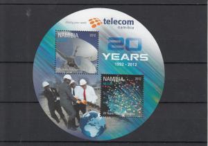 Namibia 2012 MNH 20 Years Telecom Namibia 2v Sheet 20th Anniv Telescope