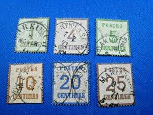 GERMAN OCCUPATION OF ALSACE-LORRAIN - 1870 - SCOT # N1,N3,N4,N5a,N6,N7   USED