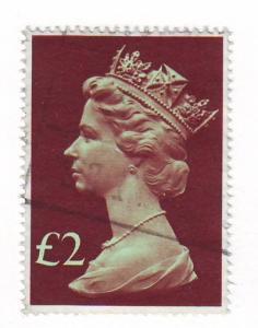 Great Britain ScMH175 £2 Machin Head stamp used