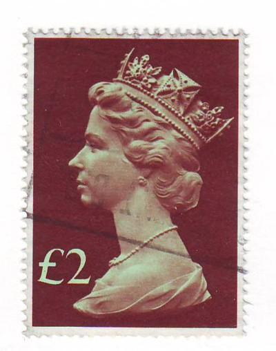 Great Britain ScMH175 £2 Machin Head stamp used