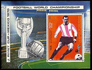 Yemen 273B, MNH, World Cup Football Franz Beckenbauer souvenir sheet