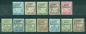 French Guiana #J1-J12  Mint  Scott $24.60