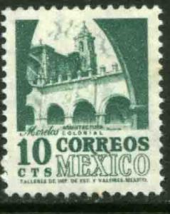 MEXICO 876a, 10cents 1950 Definitive 2nd Printing wmk 300 REDRAWN MINT, NH F-VF.
