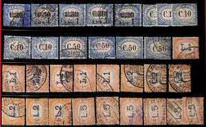 94978  - SAN MARINO - STAMPS - Lot of  POSTAGE DUE STAMPS for REVENUE USE