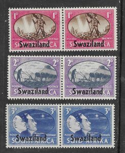 Swaziland # 38-40  Peace WWII - pairs   (3)  Unused LH
