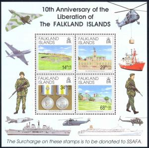 Falkland Islands Sc# B5a MNH Souvenir Sheet 1992 Liberation 10th