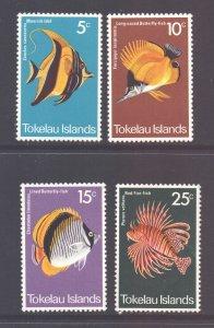 Tokelau Scott 45/48 - SG45/48, 1975 Fish Set MH*