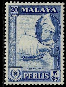 MALAYSIA - Perlis QEII SG36, 20c blue, M MINT.