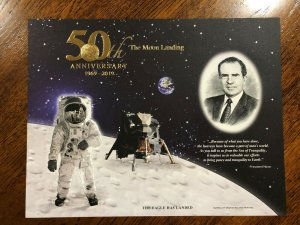 BEP 2019 50th Anniversary of the Moon Landing Souvenir Card B333 - Eagle Landed