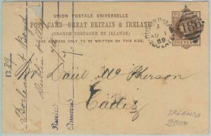 82232 - GB - Postal History -  STATIONERY CARD  from IRELAND  to SPAIN  1889