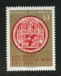 Austria Scott 743 MNH** 1965 Seal of Vienna University stamp