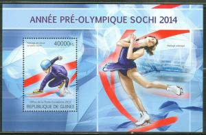 GUINEA 2013 SOCHI 2014 WINTER OLYMPIC GAMES SOUVENIR SHEET
