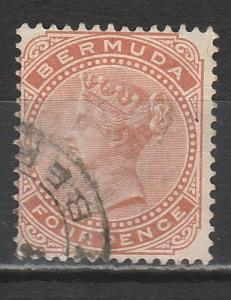 BERMUDA 1883 QV 4D WMK CROWN CA USED