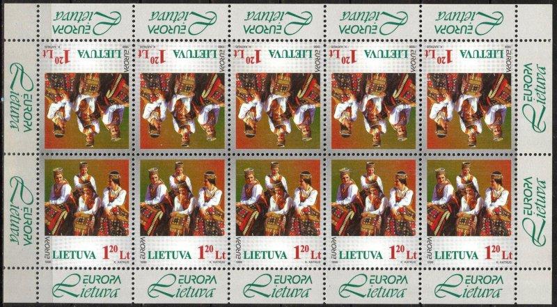 Lithuania 1998 Europa CEPT National Festivals Costumes Sheet MNH