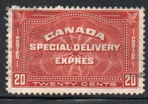Canada Sc E4 1930 20 cent Special Delivery stamp used