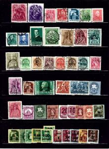 WW28 48 stamps all Hungary used and unused