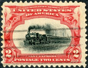 #295 – 1901 2c Pan-American Exposition.  Used Light Cancel.