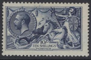 GB SG402 1913 10/- INDIGO-BLUE MTD MINT