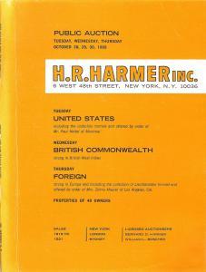 HR Harmer: Sale # 1919-1921  -  United States, British Co...