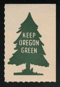 Keep Oregon Green Vintage Poster Stamp