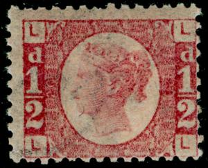 SG48, ½d rose-red plate 20, NH MINT. Cat £350+. LL