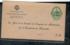 COSTA RICA COVER (P1308B) 2C PSE OVPT LIBRE DE PORTE UNUSED