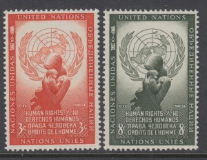 UN New York 29-30 Human Rights MNH VF