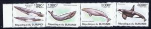 Burundi 857-60 NH 2011 Whales Set