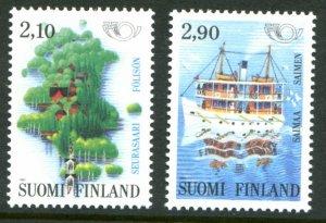 1991 Finland 1142-1143 Ships