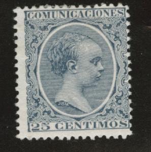 SPAIN Scott 263 MH* 1889-1899 King Alfonso XIII CV$20
