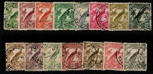 NEW GUINEA SG177/89 1932-4 DEFINITIVE SET USED