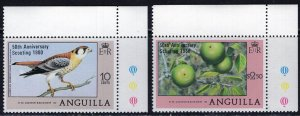 Anguilla (1980) #387-8 MNH; see description