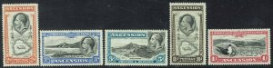 ASCENSION 1934 KGV PICTORIAL 2D TO 1/-