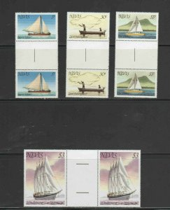 NEVIS #114-117  1980 SHIPS AND BOATS GUTTER PAIR   MINT  VF NH  O.G  a