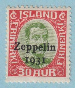 ICELAND C9 AIRMAIL  MINT HINGED OG * NO FAULTS VERY FINE!