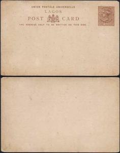 Lagos QV 1/2d Postcard mint
