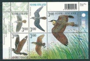 Finland 1999 #1113 MNH. Birds, booklet pane