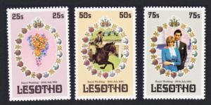 Lesotho Charles and Diana Royal Wedding 3v SG#451-453 MI#344-346 SC#335-337