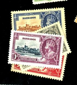 Barbados #186-189 MINT VF OG HR 186-88 Rust Spots on Gum Cat$25.45