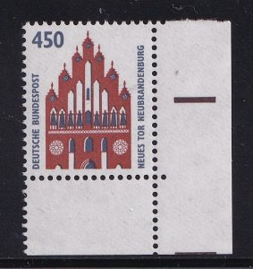 Germany   #1539   MNH   1992    Historic  sights  450 pf