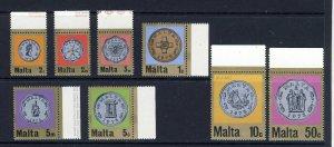 MALTA QE II 1972 Decimal Currency Coins Set SG 467 to SG 474 MNH