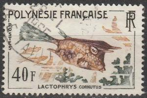 French Polynesia #202  F-VF Used  CV $11.50  (K58)