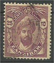 ZANZIBAR, 1936, used 25c, without Serifs Harub Scott 205