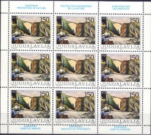 Yugoslavia. 1986. KLB 2148-49. Enviroment protection. MNH.