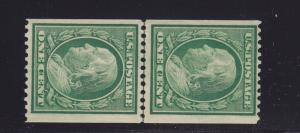 348 Linepair VF OG never hinged PF cert wirth rich color cv $ 650 ! see pic !