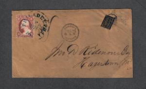 US Sc#11a+15L13 Bloods Despatch Local Cover, Cv. $1000